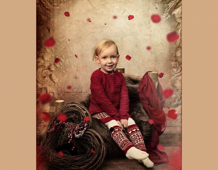Sofia beim Weihnachts-Shooting