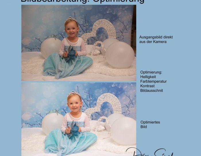 Shooting mit Sofia: erste Bildoptimierung